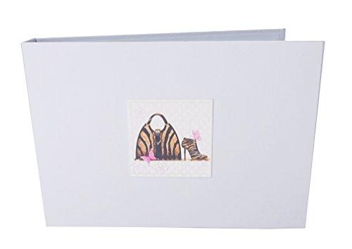 witte katoenen kaarten Animal Print Bag & Shoe Tiny Value Fotoalbum, Wit, 17,5 x 2,5 x 12,5 cm
