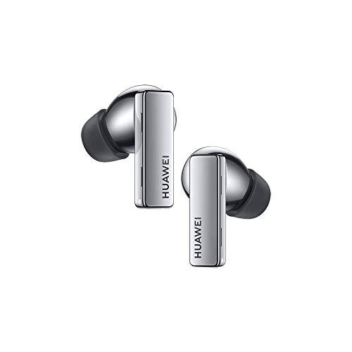 Huawei FreeBuds Pro con Adattatore Huawei AP52,Auricolari True Wireless Bluetooth con Cancellazione Intelligente del Rumore,Sistema a 3 Microfoni,Ricarica Wireless Rapida,Argento (Frost Silver)