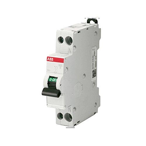 ABB Interruttore Automatico Magnetotermico 1P+N 4,5 Ka Curva C 1 Modulo Din SN201LC20 20 Ampere