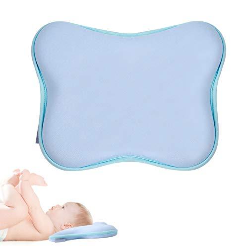 Ohiyoo Cojín para bebé contra la cabeza plana P almohada ortopédica Memory Foam regalo para niños 2 mantas cochecito