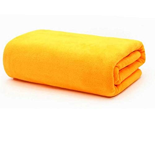 IAMZHL Beauty Salon Bath Towel and Face Towel Massage Quick-Dry Special Large Towel Thick Microfiber Absorbent Soft Steaming Towels-orange-5-80x190cm