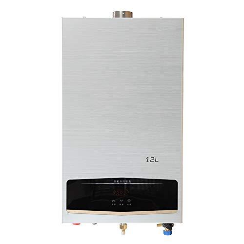 Stoge Instant-Erdgas-Warmwasserbereiter 12L 32KW NG-Warmwasserkessel zur Wandmontage mit Duschkopf-Kit/LCD-Display for Baby und Mutter 220V