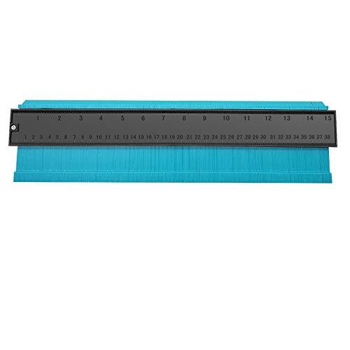 型取りゲージ 380mm Bisoff 測定工具 測定ツール ゲージ コンターゲージ 曲線定規 不規則な測定器 ABSプラスチック製 角取り 隅合せ(グリーン)