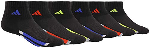 adidas Youth Kids-Boy's/Girl's Cushioned Quarter Socks (6-Pair)