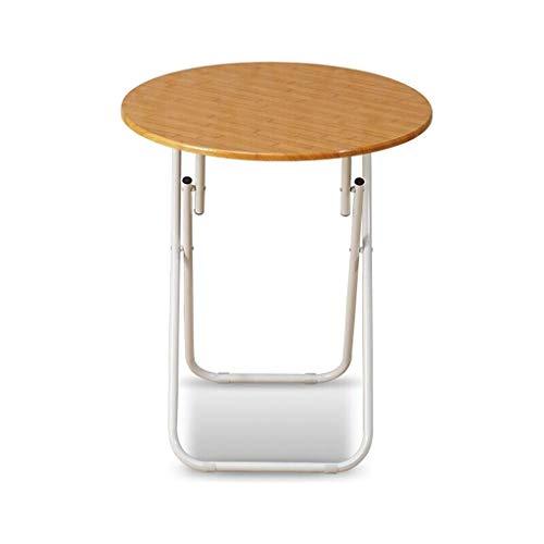 Klaptafel Klaptafel HJCA – ronde eettafel klein – eettafel van massief hout – 60 x 70 cm – Tafel rond (walnoot zwart/bamboe model)