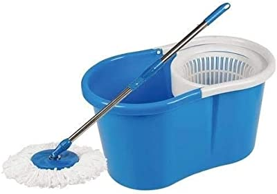 Generic Mop With Easy Wheels And Bucket (Multicolour)