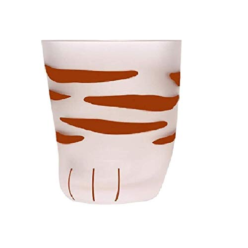 Cat Claw Cup Milk Glass Frosted...