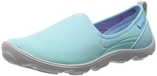 crocs Women's Duet Busy Day Shoe,Ice Blue/Pearl White,9 M US