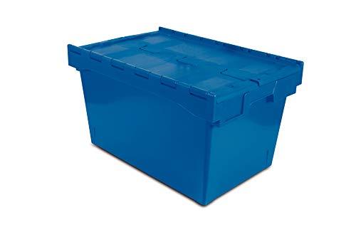 Tayg 6444-T Euro-caja con tapa para almacén y transporte, 600 x 400 x 440 mm