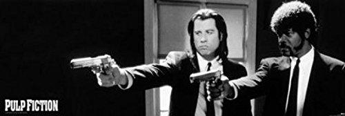 1art1 Pulp Fiction - B&W Guns Tür-Poster 158 x 53 cm