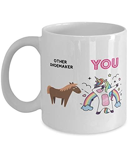 DKISEE Other Shoemaker And You Unicornio, Shoemaker White Taza de café de 325 ml, regalo para zapatero amigo