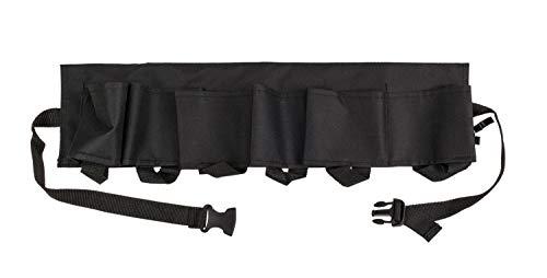 Zwarte flessenhouder, bierriem voor 6 flessen met metalen flesopener, lengte ca. 124 cm, in geschenkdoos