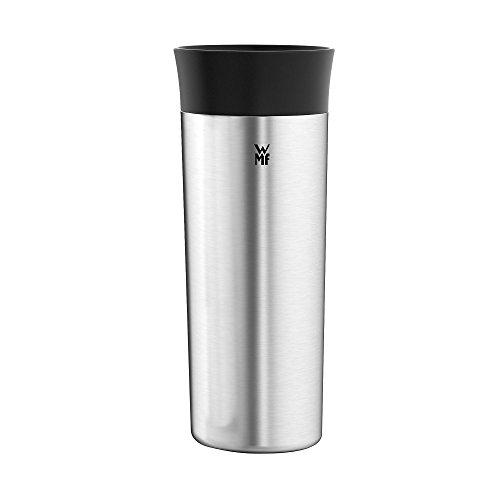 WMF Küchenminis Thermo-Trinkbecher to go, 350 ml, 360°-Trinköffnung, hält Getränke heiß und kalt, Cromargan matt