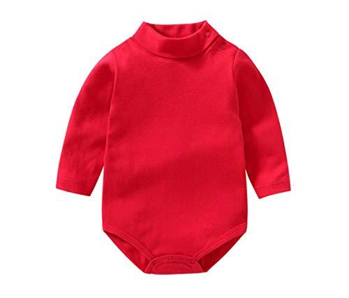 Bebé niño niña Camisa de Manga Larga Mono Cuello Alto Mameluco Ropa de Invierno niño otoño...