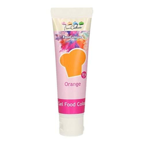 Funcakes - Colorante concentrado en Gel para chocolate, cremas, fondant .... (Naranja)