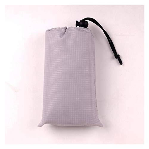KJBGS Außenmatte 140 * 200 cm Tasche Picknick wasserdichte Strandmatte Sandfreie Decke Camping Outdoorzelt Faltende Abdeckung Tragbare Campingmatte (Color : Gray, Size : 1.4x1.5M)