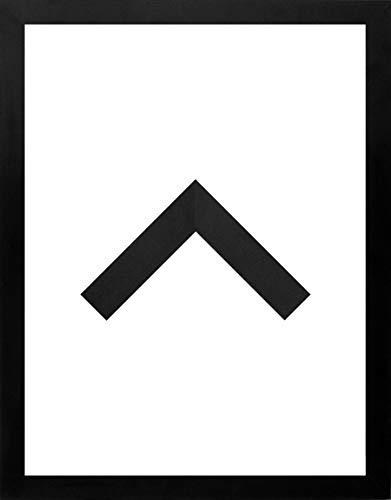 RahmenMax Morena Holz Werkstoff Bilderrahmen 24 x 34 cm modernes sehr eckiges Profil 34 x 24 cm Grosse Farbauswahl jetzt: Schwarz Matt mit Kunstglas klar 1 mm