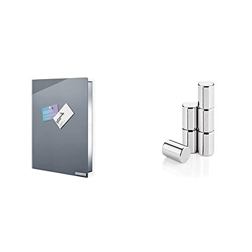 Blomus 65368 Schlüsselkasten oder Glasmagnettafel Velio & 65369 Set 6 Magnete Velio