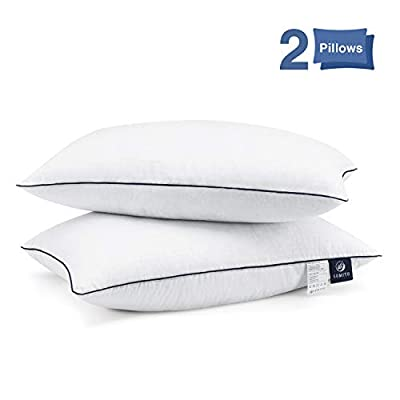SUMITU Bed Pillows for Sleeping 2 Pack, Hypoallergenic Pillow for Side and Back Sleeper, Hotel Pillows Down Alternative Pillows with Super Soft Plush Fiber Fill