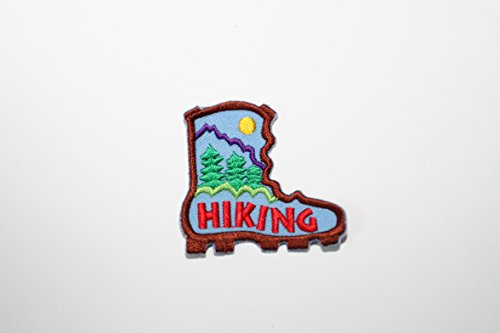 FUN PATCHES - HIKING - IRON-ON PATCH - Girl Scouts and group fun iron on BADGES (10 Patches)