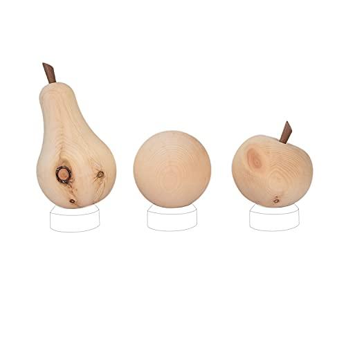 ZirbenFreunde-Set - ZirbenKugel - ZirbenApfel - ZirbenBirne - für Karaffe Misura oder Nimbus