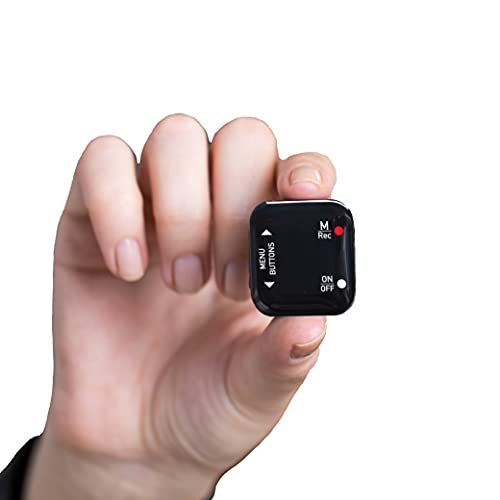 Mini Voice Recorder - Voice Activated Recording - 512 Hours Recording Capacity, Up to 24 Hours Battery Life, Easy to use, Password Protection (8GB)