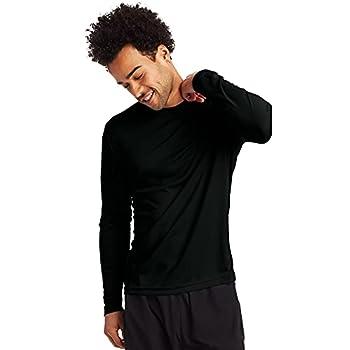 Hanes Men s Long Sleeve Cool Dri T-Shirt UPF 50+ Medium 2 Pack ,Black