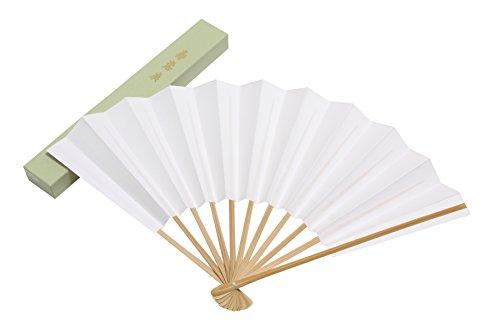 [ハセガワ] 京扇子 紳士用 礼装用 白扇 9寸11本骨 紙箱入