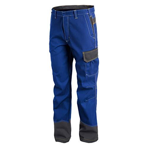 KÜBLER Workwear KÜBLER Safety X Arbeitshose blau, Größe 50, Herren-Arbeitshose aus Mischgewebe, antistatische Arbeitshose