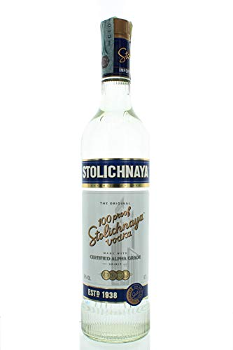 Stolichnaya Blue Label Vodka, 70 c
