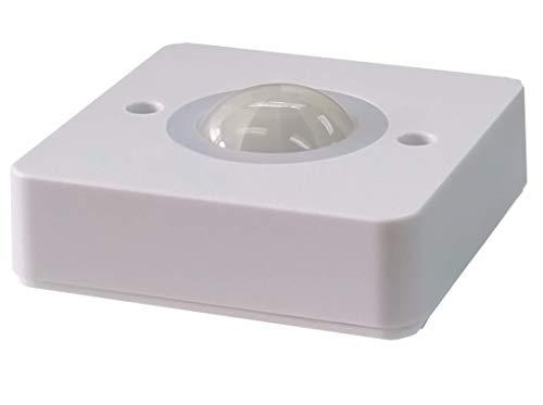 LE Electronics 2Y-LINK PM400 Sensor de ocupación montado en superficie PIR detector de movimiento sensor de seguridad interruptor de luz automático, techo 360 ángulo 5 m en radio (blanco)