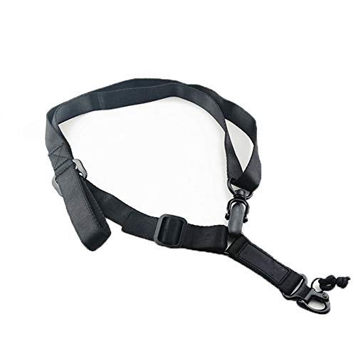 Tactical MS2 Two Point Strap Mountaineering Rope Adjustable Multi-Function Rope Strap Outdoor Safty Belt for Outdoor Accessories (Black)