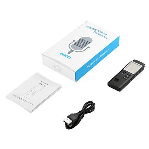 ForceSthrength Digital Voice Sound Recorder Dictaphone 8GB Audio Recorder Riduzione del Rumore