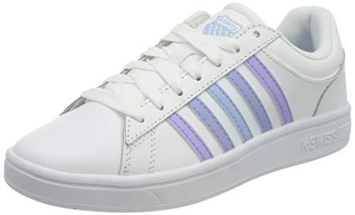 K-Swiss Womens Court Winston Sneaker, White/VIOLETULIP/SRNTY, 40 EU