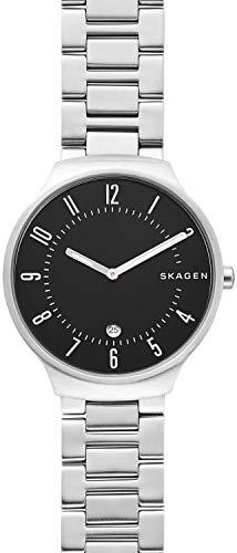 Skagen Herren Analog Quarz Uhr mit Edelstahl Armband SKW6515