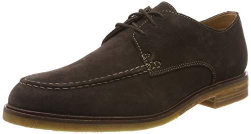 Clarks ClarkdaleApron, Zapatos de Cordones Derby para Hombre, Suelo marrón Oscuro, 40 EU