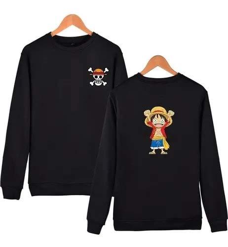 Blusa Moletom One Piece Monkey Caveira Luffy Gola Careca (Rosa, G)