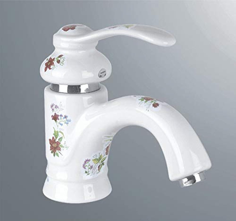 Hlluya Professional Sink Mixer Tap Kitchen Faucet Ceramic faucet basin sink mixer sink Mixer Taps, white C
