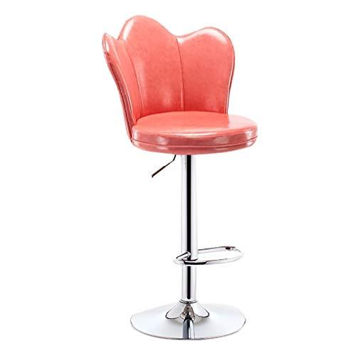 CYLQ barkruk, zithoogte 60-80 cm, barstoelen, draaibaar, met rugleuning, modern kunstleer, voor krukken, keuken, eetkamerstoelen, 7 kleuren