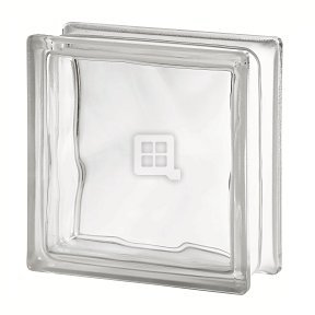 Quality Glass Block 7.5 x 7.5 x 3 Basic Wave Glass Block