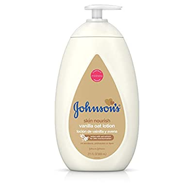 Johnson's Baby Moisturizing Lotion with Nourishing Vanilla & Oat Extract for Dry Skin, Hypoallergenic and Dermatologist-Tested, 27.1 fl. oz by Johnson's Baby