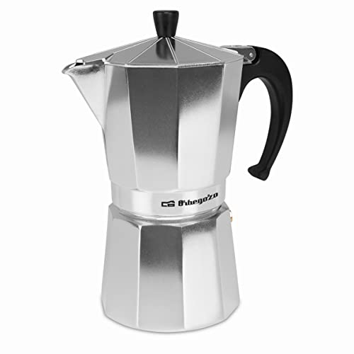 Orbegozo KF 900 – Cafetera italiana de aluminio, 9 tazas de capacidad