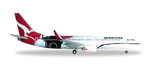Herpa Modellino Aereo Qantas Boeing 737-800 Mendoowoorrji Scala 1:200