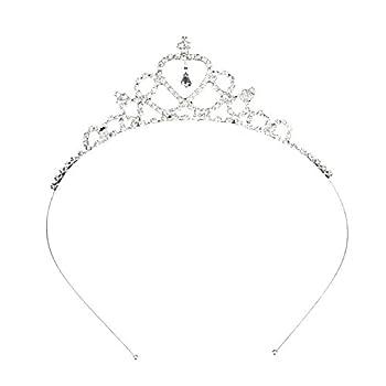 Katara 1669 Diadème Nuptial De Princesse, Tiare Serre-tête en Strass, Pour Mariée Ou Demoiselle D'Honneur