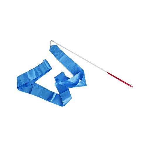 Generic - Gym danza cinta gimnástica rítmica streamer vara baton twirling partido del año nuevo chino -, color azul