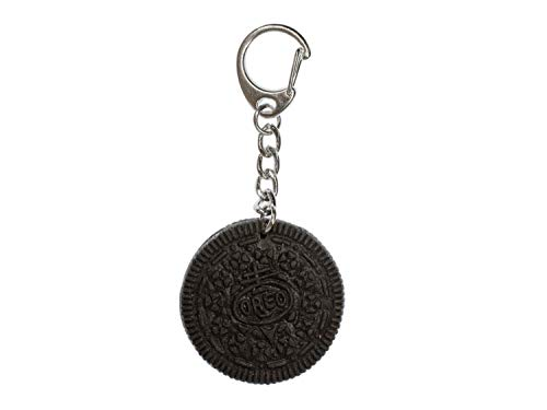 Miniblings Keks Cookie Doppelkeks Schlüsselanhänger - Handmade Modeschmuck I Anhänger Schlüsselring Schlüsselband Keyring - Keks Cookie Doppelkeks