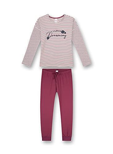s.Oliver Mädchen Schlafanzug lang rot Pyjamaset, Dark Rose, 176 (2er Pack)