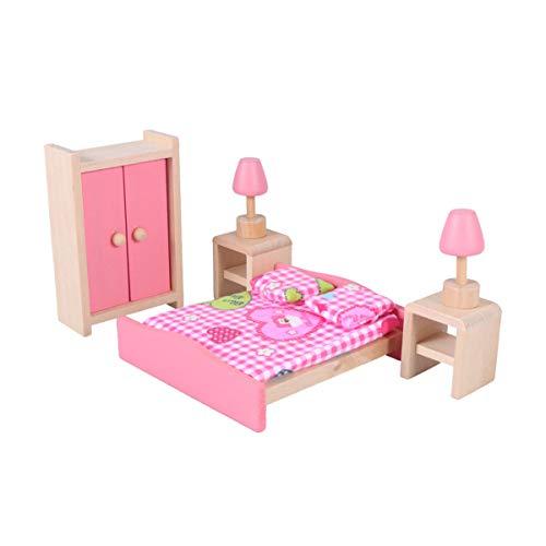 Toyvian Conjunto de Muebles de casa de muñecas de Madera Mini Muebles Accesorios de Fotos Muebles de Juguete Miniatura para niños jardín de Infantes Dormitorio de niños