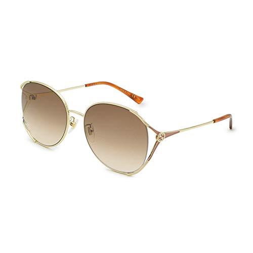 Gucci GG-0650-SK 004 - Gafas de sol, color dorado, marrón y gris