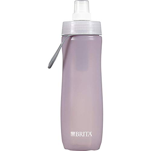 Brita 20 Ounce Sport Water Bottle with Filter - BPA Freee, Lilac (2-Pack)